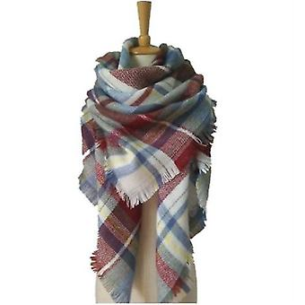 Cashmere Double-sided Color Plaid Scarf Lady Shawl