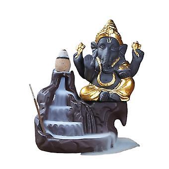 Luova Ganesha Suitsukkeet Vesiputous Suitsukkeenpidike Työpöytäkorista Takaisinvirtaus Vesiputous Sisustus