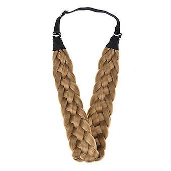Fashion Women Synthetic Wig Braided Hair Band Elastic Twists Headband Princess Hair Rayon Wig Braid Hair Band
