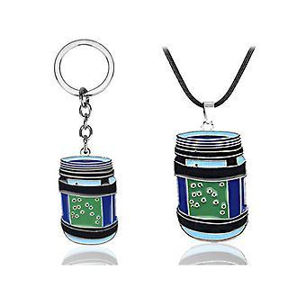 2-piece Set Necklace,keychain - Fortnite