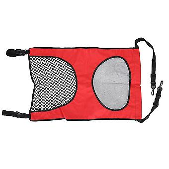 (Red)Pet Automotive Supplies Back Seat Pet Dog Car Fence Barrier Isolation Protective
