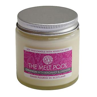 Small Jar Geranium, Bergamot & Lavender Candle by The Melt Pool