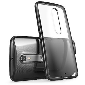 i-Blason Motorola Moto X Pure (Moto X Style) Case - Halo Series Scratch Resistant Clear Case - Clear Black