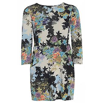 Bleu Satin Floral regarde Top TP417-L