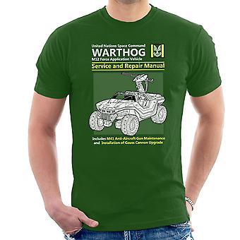 Halo Warthog Service en reparatie handleiding mannen T-Shirt