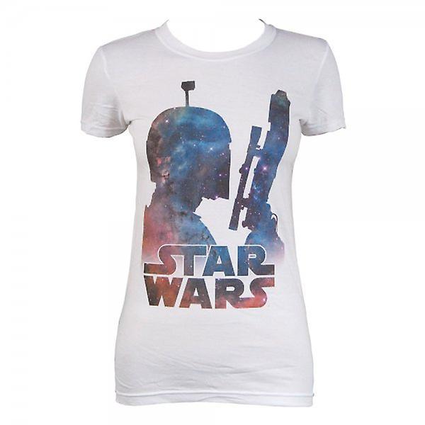 Dames de Star Wars Star Wars Boba Fett nébuleuse T Shirt blanc