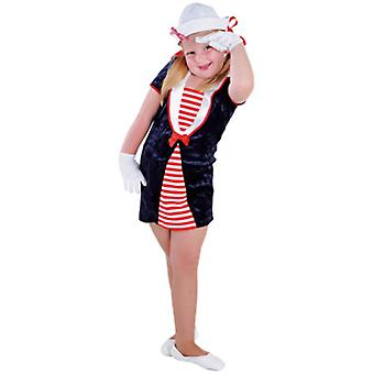 Infantil fantasias menina marinheiro azul
