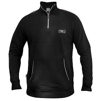 Bad Boy Quarter Zip Pullover - schwarz