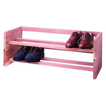 Large Woodlore Cedar Stackable Shoe Rack 95x30x14cm from Caraselle