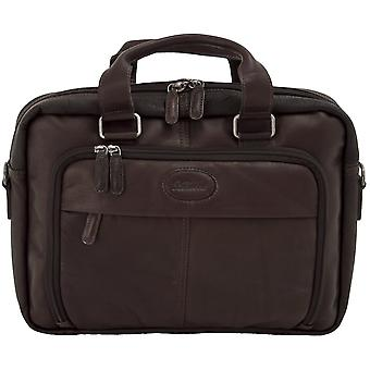 Ashwood Mayfair Double håndtak Laptop Bag i colombianske skinn