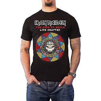 Iron Maiden T Shirt boek van zielen Live hoofdstuk 2017 nieuwe officiële Mens zwart