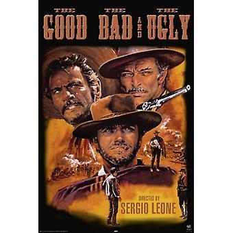 Das gute das schlechte und das hässliche Poster drucken (24 x 36)