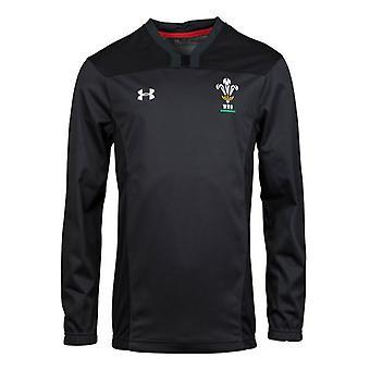 2018-2019 Galles Rugby WRU contatto formazione Jacket (antracite)