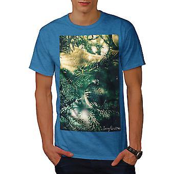 Tree Cozy Merry Men Royal BlueT-shirt | Wellcoda
