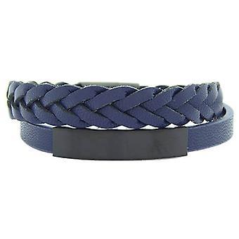 Christian Double Blue Black Clasp Bracelet