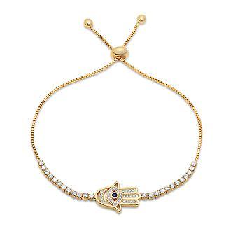 Ladies 18K Gold Plated Drawstring Bracelet