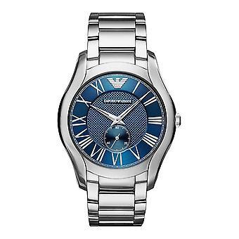 Emporio Armani Mens heren horloge zilver RVS band Blue Dial AR11085