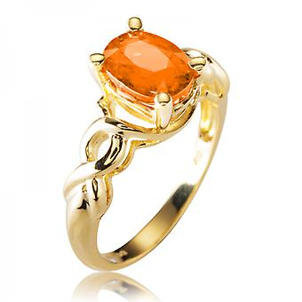 Shipton and Co Ladies Shipton And Co Exclusive 9ct Yellow Gold And Mandarin Garnet Ring S08774SG