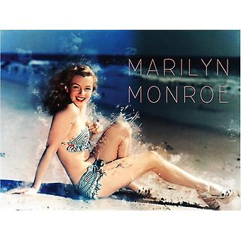 Marilyn Monroe Poster 1950's Retro Swimsuit Beach Photo Art Print (24x18)