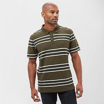 New Peter Storm Men's Short Sleeve Casual Striped Polo Shirt Khaki