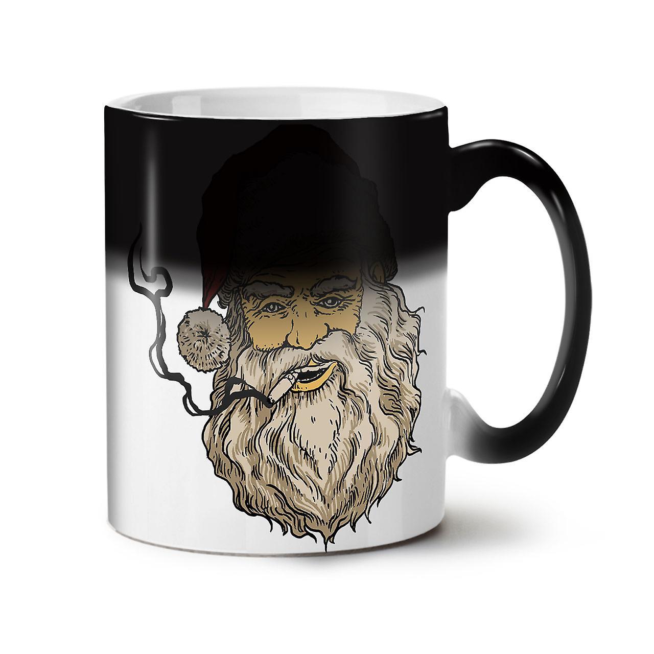 Joint Rauchen Santa neue schwarze Farbe wechselnden Tee Kaffee Keramik Becher 11 oz | Wellcoda