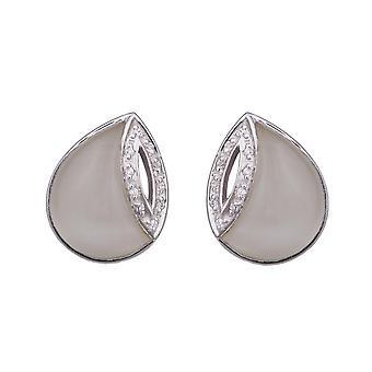 Orphelia Silver 925 Earring White Cateye Zirconium  ZO-5930