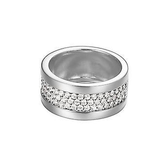 ESPRIT naisten rengas hopea cubic Zirkonia pave puhdasta laaja ESRG92215A1