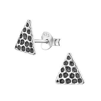 Driehoek - 925 Sterling Zilver Plain Ear Studs - W29350x
