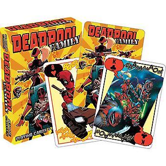 Marvel Deadpool perhe on asetettu pelikortteja (52463)