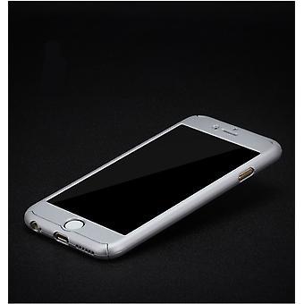 Custodia per la protezione della custodia del telefono Samsung Galaxy J5 Full Cover Tank Protection Glass Silver