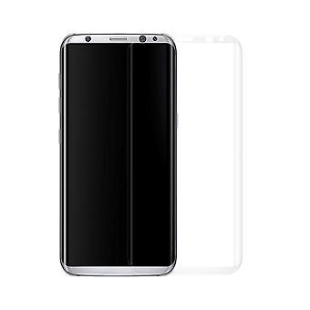 Samsung Galaxy S8 3D armoured glass foil display 9 H protective film covers case translucent