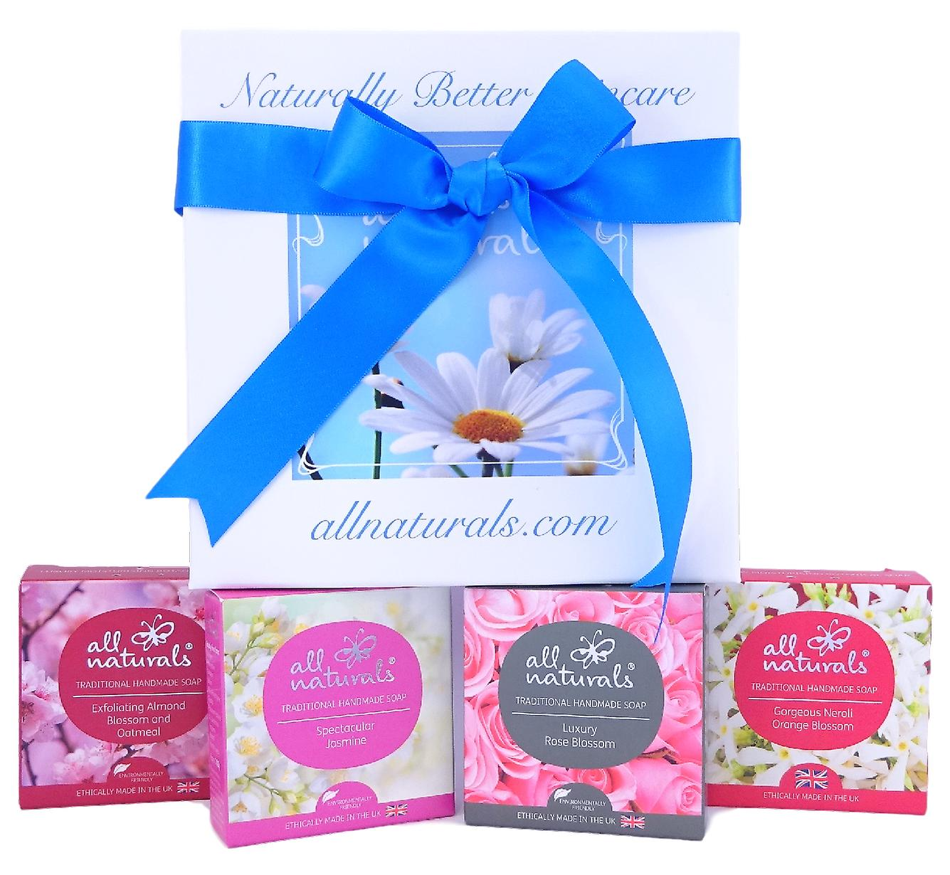Fresh and Floral Soap Gift Box with All Naturals Organic Soaps 400g
