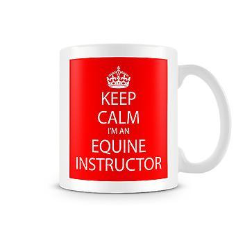 Keep Calm ik ben een bedrukte mok van Equine instructeur