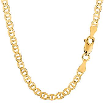 Enlace de Mariner oro amarillo 14 k collar de cadena, 5.5 mm