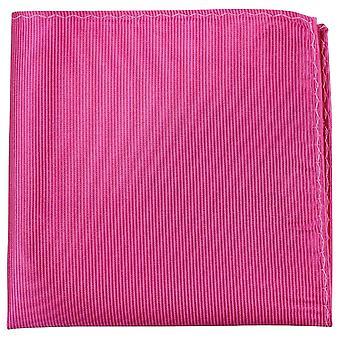 Knightsbridge Neckwear Ribbed Silk Pocket Square - Fuchsia