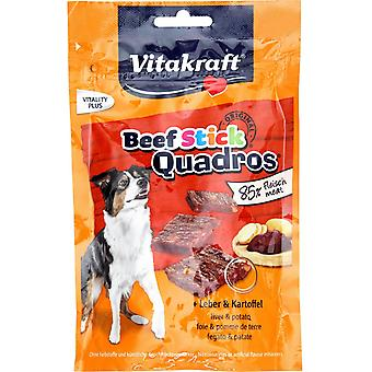 Vitakraft Beef-Stick Quadros + Liver and Potato (Dogs , Treats , Biscuits)