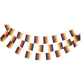 TRIXES 20ft German Bunting 12 Flag Rectangular Germany Bunting Garland for Sporting Events…