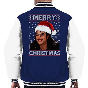 Michael Jackson Merry Christmas Men's Varsity Jacket