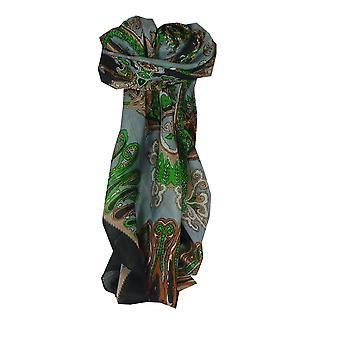 Mulberry Silk Classic Square Scarf Querim Black by Pashmina & Silk