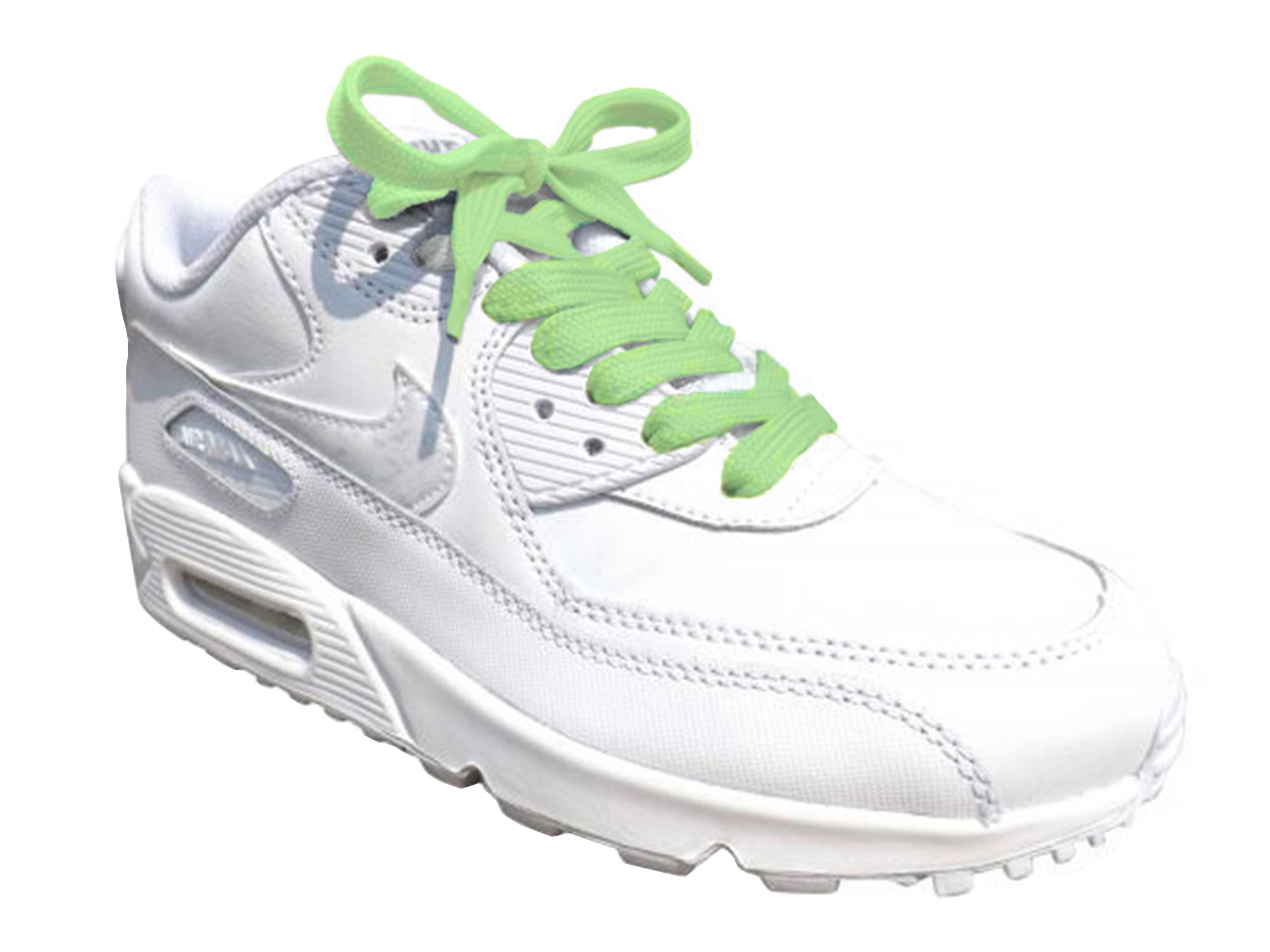 Green Pastel Flat Trainer Laces
