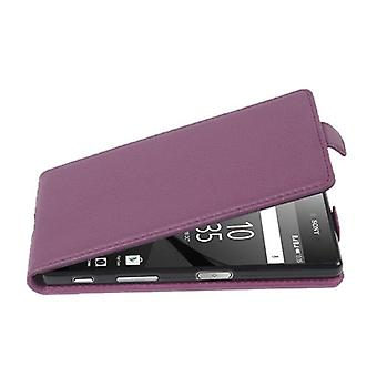Custodia Cadorabo per Sony Xperia n. 5 PREMIUM Case Cover - Custodia per telefono in Flip Design in pelle finta strutturata - Custodia custodia custodia custodia Custodia Case Case Folding Style