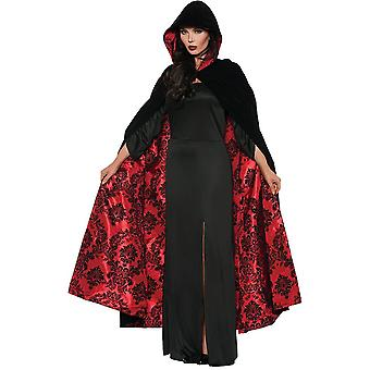 Satin Cape Black/Red