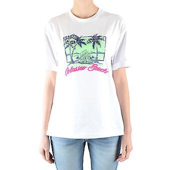 Fendi Ezbc009020 Women's White Cotton T-shirt