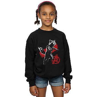 Marvel Girls Avengers Endgame Mono Rocket Sweatshirt