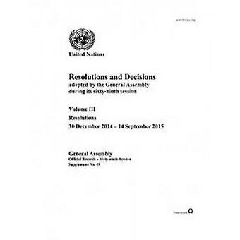 Résolutions et décisions adoptées par l'Assemblée générale au cours de ses