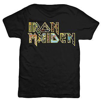 Iron Maiden Eddie Logo T-Shirt - Black/Yellow