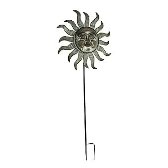 Metal Himmelsonnenwind Spinner Garden Stake