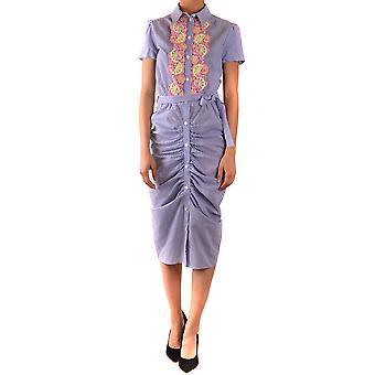 Boutique Moschino Ezbc170017 Women's Light Blue Cotton Dress