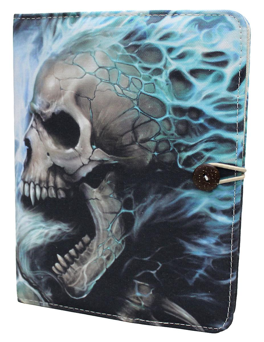 Spiral Direct Gothic FLAMING SPINE - iPad Air Folio Case + Stand|AlloverPrint|Skeleton|Flames|Tribal