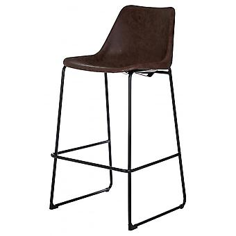 Fusion Living Mocha Vintage Bar Stool
